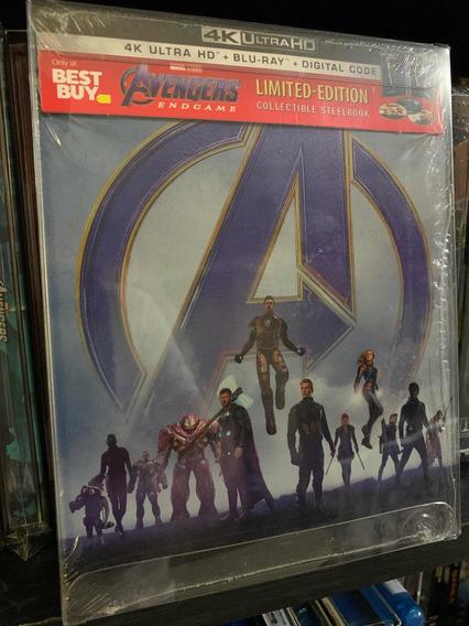 Marvel Vengadores Endgame Blu Ray 4k+blu Ray Steelbook