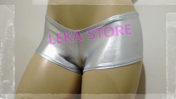 Mini Short Prata Super Brilhoso Cirre Spandex - Leka Store