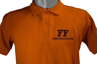 Camisa Polo Uniformes Bordado Personalizada Frente E Costa