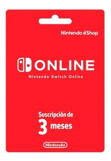 Nintendo Switch Online / Suscripción 3 Meses
