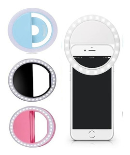 Aro Luz 24 Leds Selfie Celular Tablet Linterna 3 Tonos 85mm