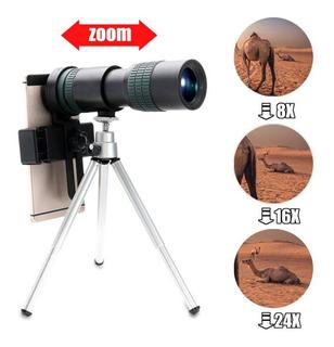 8x-24x Zoom Teleobjectiva Telescópio Ótico Monocular Telefon