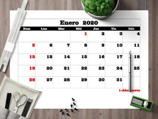 Pdf Calendario 2020 Mensual Con Feriados En A4 Para Imprimir