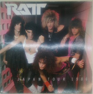 Ratt Libro Tourbook Japan Tour 1986 Hrd Jvx Xmk