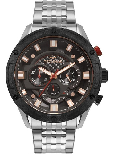 Relógio Technos Masculino Ts Carbon Js25cf/1p