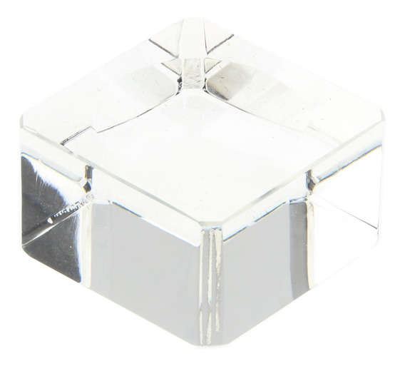 Clear Square Dimple Crystal Display Stand Para 70-80mm Bolas