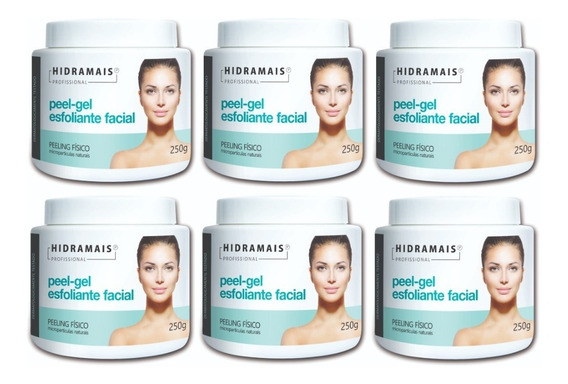 Esfoliante Facial Peel-gel 250g Hidramais - 6 Unidades