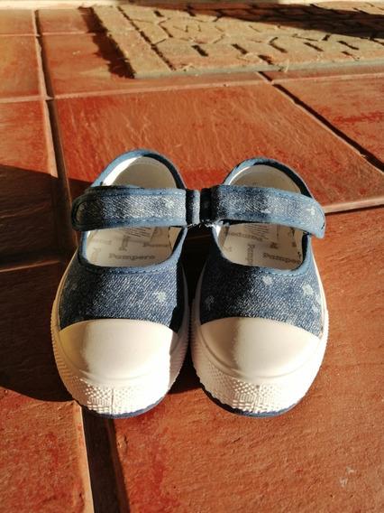Zapatillas Pampero Azul Marino Para Nena