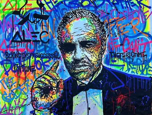 Poster Grafite 50cmx65cm Arte Urbana Godfather Alec Monopoly