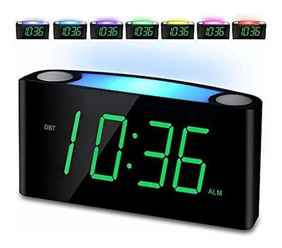 Reloj Despertador, Pantalla Digital Led Grande