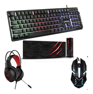 Combo Gamer | Teclado - Mouse - Auriculares - Pad Mouse