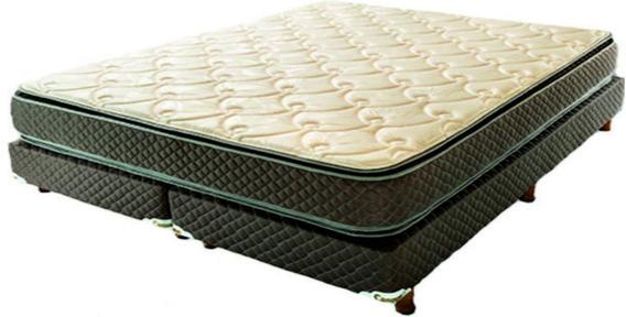 Sommier Y Colchon Cannon Exclusive Doble Pillow 160x200