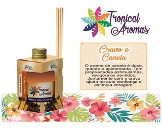 Pack 12 Difusor Ambientes Cravo/canela Tropical Aromas 250ml