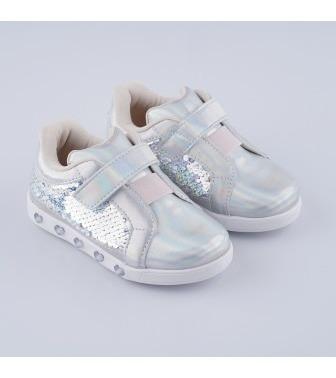 Tênis Led Infantil Pampili Sneaker Luz Holográfica Original