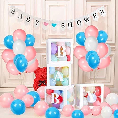 Zaniflip - Juego De 58 Decoraciones Para Baby Shower Para Ni
