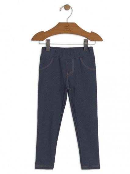 Calça Jegging Up Baby Malha Jeans Azul