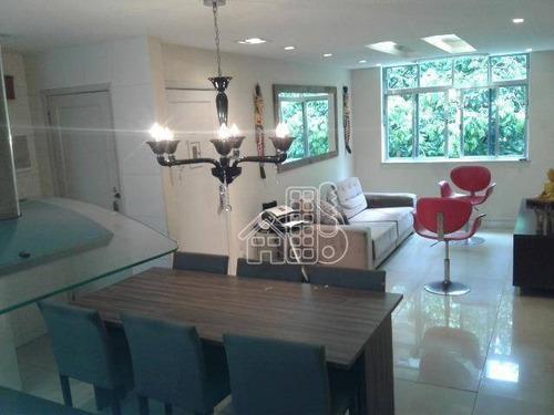 Apartamento Com 4 Dormitórios À Venda, 110 M² Por R$ 500.000,00 - Icaraí - Niterói/rj - Ap3189