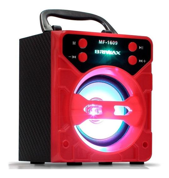 Caixa De Som Bluetooth Portátil Mp3 15w Rádio Fm Usb Sd Aux