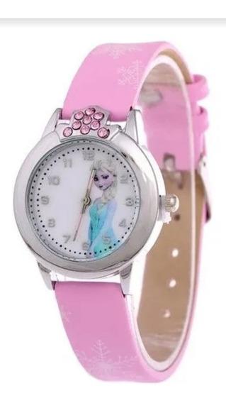 Lindo Relógio Infantil Elsa Frozen Disney - Rosa