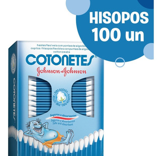 Hisopos Flexibles Cotonetes® Johnson & Johnson X 100 Un.