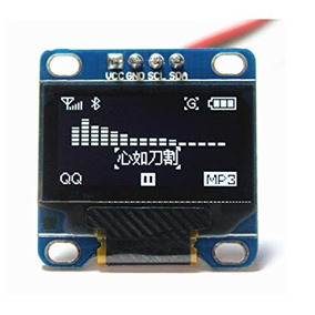 2x Display Oled 0.96 I2c Fundo Azul Amarelo Arduino Pic Esp