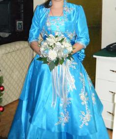 Vendo Hermoso Vestido Xv Azul Quinceañera Quince Años