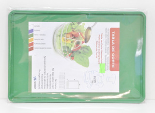 Tabla De Corte Gastronomica 20x30 Verde Oscuro