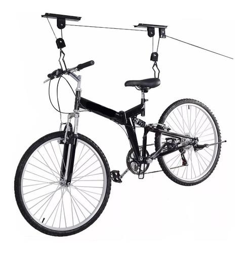 Imagen 1 de 10 de Soporte Porta Bicicleta Para Colgar Gancho Reforzado Techo