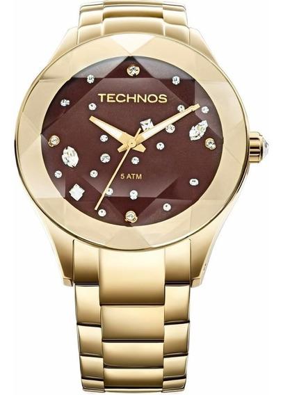 Relógio Technos Feminino Crystal Elegance 2039at/4m Dourado