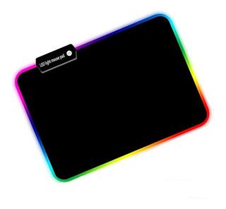 Alfombrilla Para Mouse Rgb C/7 Efectos Luminosos Para Laptop
