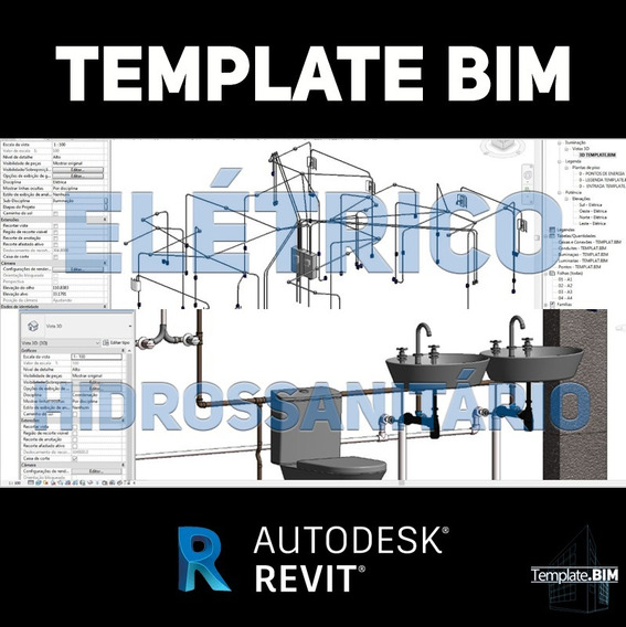 Template Revit Pacote Bim Hidrossanitário + Elétrico + Bônus