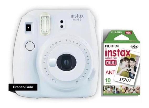 Câmera Fujifilm Instax Mini 9 Branco Fosco + Filme 10 Poses