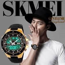 Relógio Skimei 1016 - Dourado