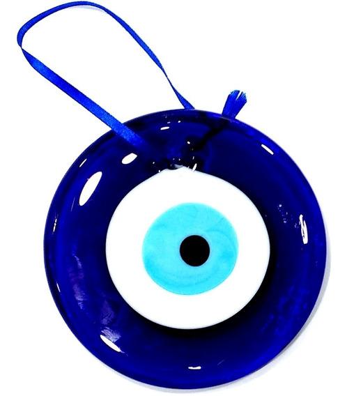 Olho Grego Turco Murano 15cm De Parede P/ Proteção Feng Shui