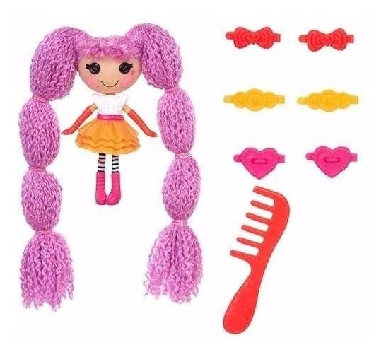 Mini Lalaloopsy Loopy Hair - Peanut Big Top - Roxa