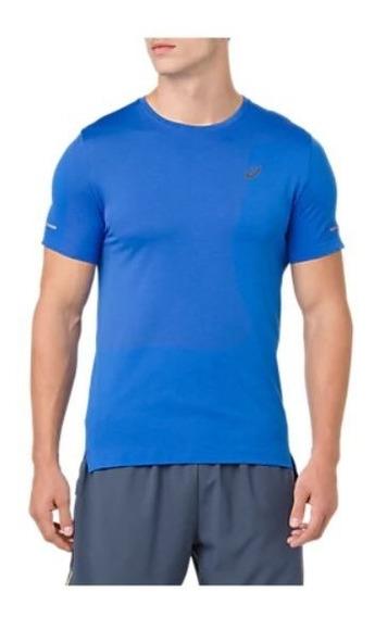 Remera Asics Seamless Ss Hombre Azul Running