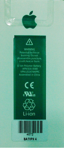 Bateria Pila iPhone 4 / 4g Original Tienda Fisica