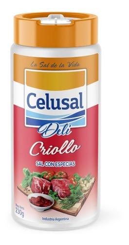Sal Con Especias. Celusal Deli Criollo 230 Grs