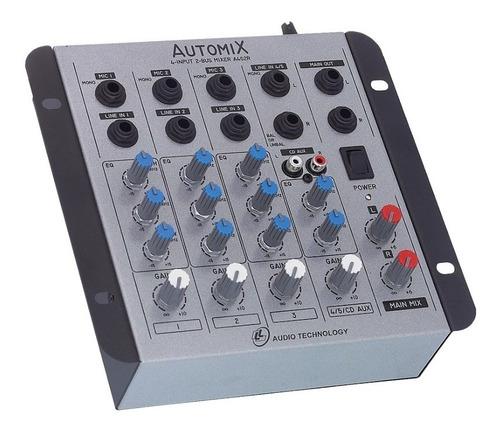 Mesa De Som Lláudio Automix A402r Mn 4 Canais Compactada