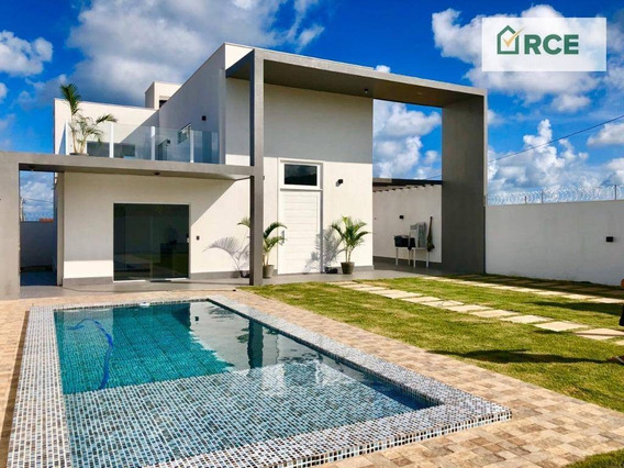 Casa Com 3 Dormitórios À Venda, 243 M² Por R$ 650.000 - Praia De Tabatinga - Nísia Floresta/rn - Ca0144