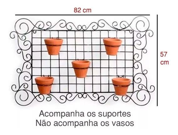 Floreira Vaso Jardim Horta Retangular Parede C/ Suporte