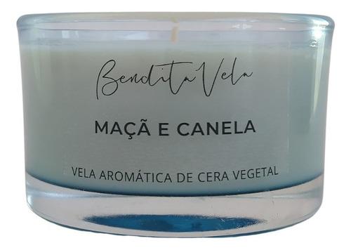 Imagem 1 de 2 de Vela Perfumada Aromatizada Cera Vegetal Maçã E Canela
