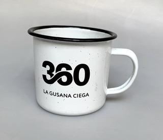 Taza De Peltre 360 La Gusana Ciega