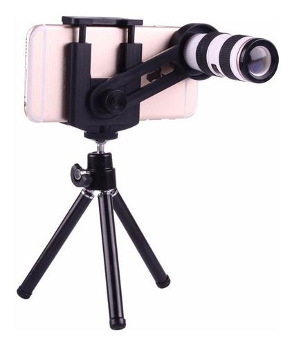Lente Zoom Para Celular 12x - iPhone - Samsung -  Tripode