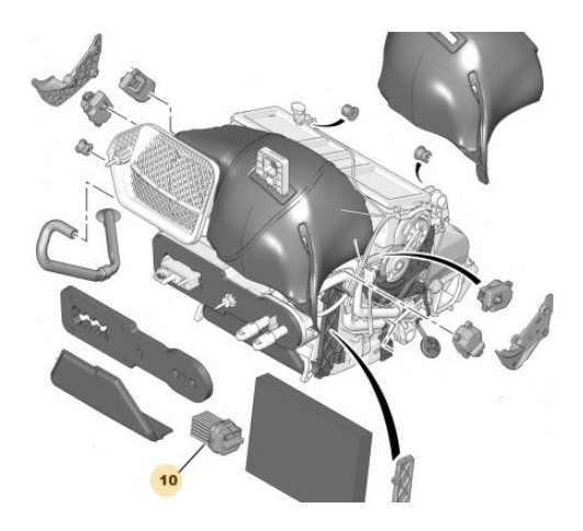 Comando Motor Climatización Peugeot 307 1.6 Hdi