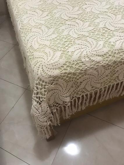 Colcha De Crochê Artesanal - Casal