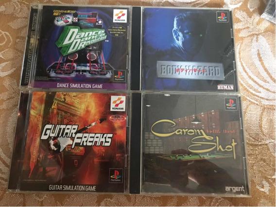 Lote De 4 Jogos Originais De Playstation 1 (black Disc)