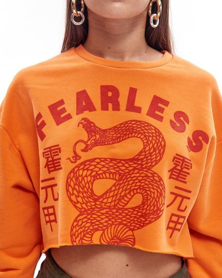 Buzo Fearless Corta De Algodón Con Estampa Mujer 47street