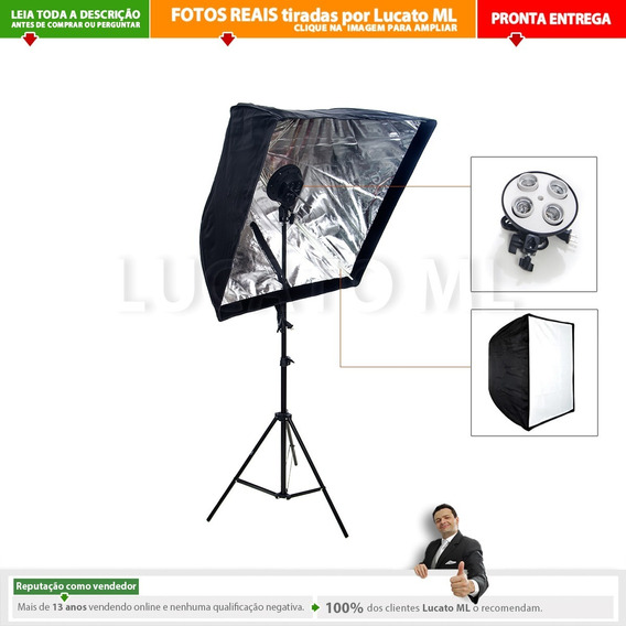 Kit Youtuber Luz Contínua 4xe27 + Softbox + Tripé | Nc