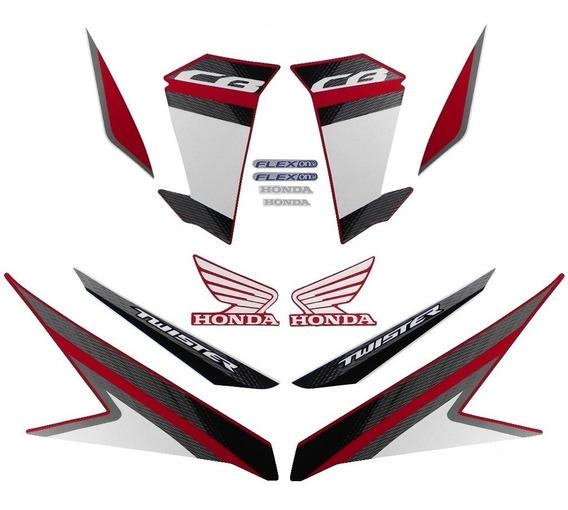Faixas / Kit Adesivos Honda Cb250 Twister 2017 Vermelha